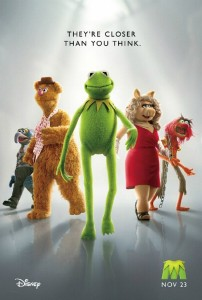 the muppets movie poster, 2011