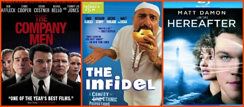 Reel Life With Jane Giveaway - The Company Men, The Infidel, Hereafter