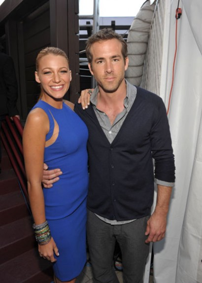 Blake Lively and Ryan Reynolds at the MTV Movie Awards 2011