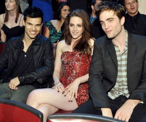 Taylor Lautner, Kristen Stewart, Robert Pattinson of Twilight