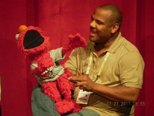 Kevin Clash and Elmo from Being Elmo