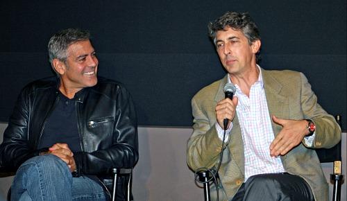 George Clooney and Alexander Payne, New York Film Festival 2011
