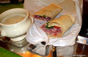 Shawshankwich served on a pseudo prison tray