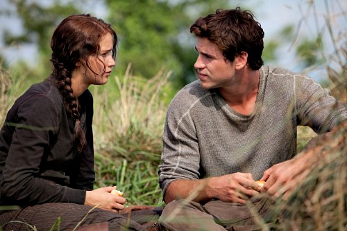 The Hunger Games: Jennifer Lawrence (Katniss) and Liam Hemsworth (Gale)