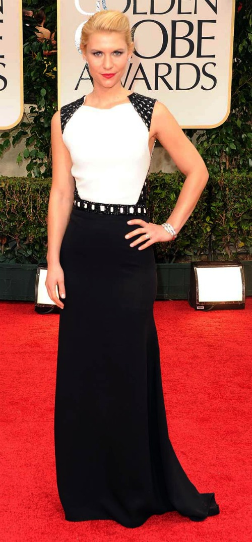 Golden Globes: Claire Danes in Black and White | NBC