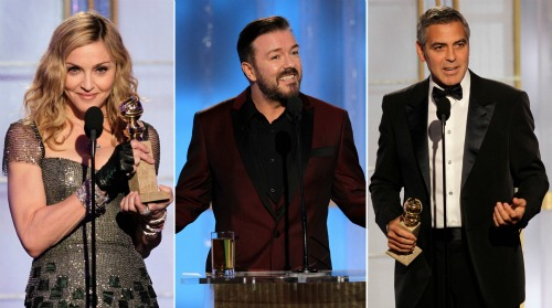 Golden Globes 2012: Madonna, Ricky Gervais and George Clooney all scored laughs | NBC