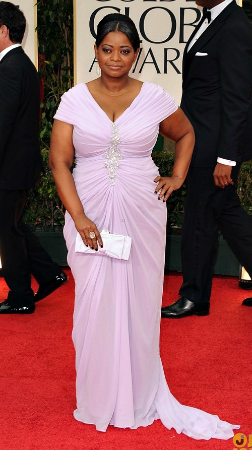 Golden Globes 2012: Octavia Spencer in Gorgeous Lavender | NBC