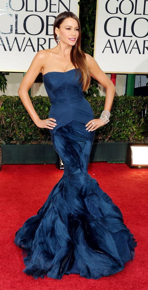 Golden Globes 2012: Sofia Vergara rocking the fish-tail