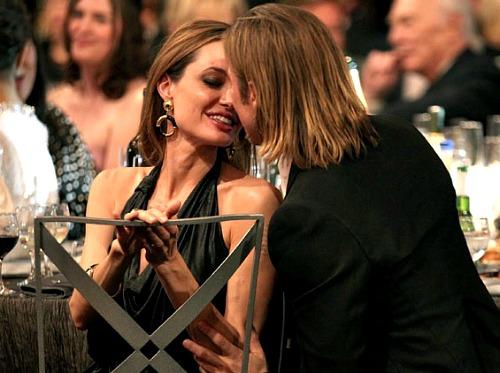 SAG 2012: Angelina Jolie and Brad Pitt Share Some Love