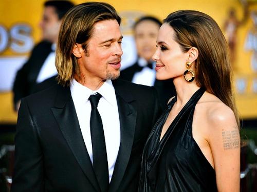 SAG 2012: Brad Pitt and Angelina Jolie on the Red Carpet