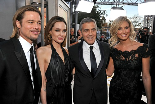 SAG 2012: Brad Pitt, Angelina Jolie, George Clooney and Stacy Keibler