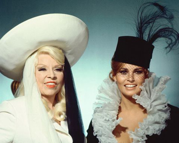 Mae West and Raquel Welch