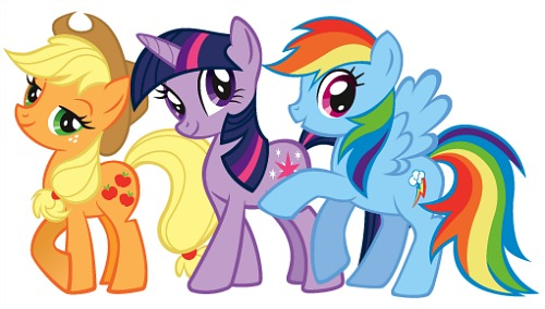 My Little Pony: Applejack, Twilight Sparkle and Rainbow Dash