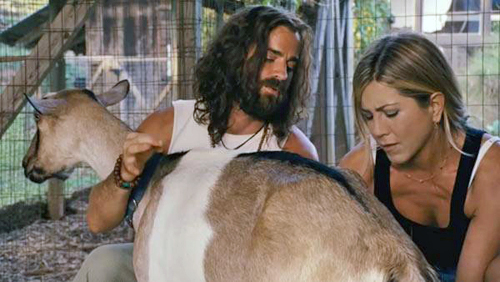 Justin Theroux and Jennifer Aniston in Wanderlust