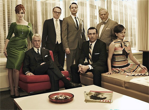 The regular cast of Mad Men