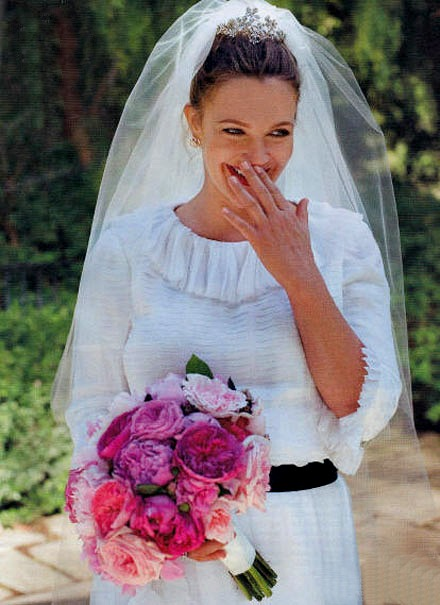 Drew Barrymore Gets Married! Thoughts on the Wedding Dress ...