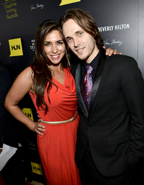 Jonathan Jackson and Lisa Vultaggio at the Daytime Emmys 2012