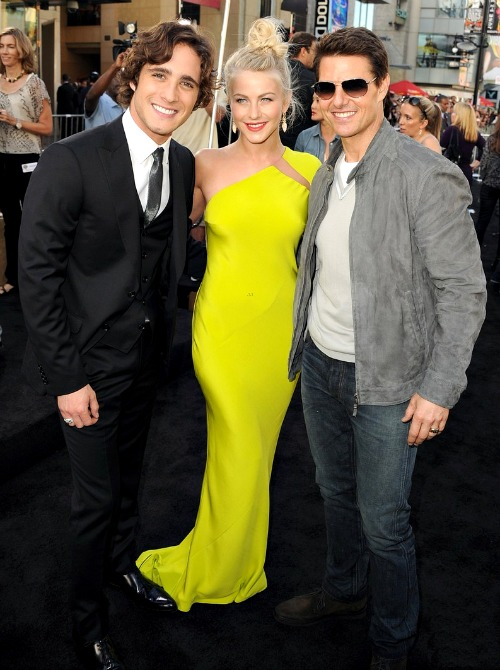 Julianne Hough, Tom Cruise and Diego Boneta at the Rock of Ages Premiere