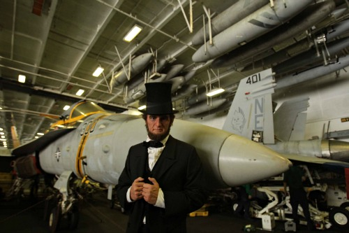 Abraham Lincoln: Vampire Hunter meets Abraham Lincoln: Aircraft Carrier