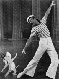 Gene Kelly with Jerry the Mouse