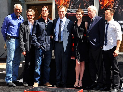 The Dark Knight Rises Cast at Grauman's Chinese Theatre