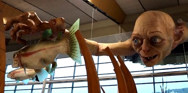 Gollum at the Wellington Airport, New Zealand