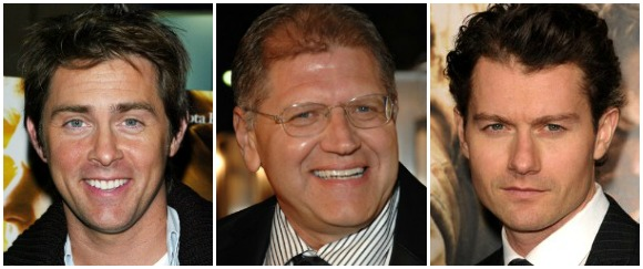 John Gatins, Robert Zemeckis and James Badge Dale of Flight
