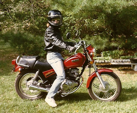 Jane on Motorcycle, circa 1980s