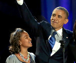 Election 2012: Michelle Obama and First Family Style at the Victory Speech