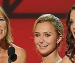 Connie Britton, Hayden Panettiere and Kimberly Williams-Paisley at the CMAs