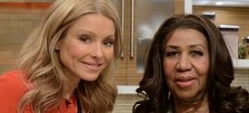 Aretha Franklin, Live with Kelly and Michael