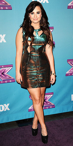 Demi Lovato at The X Factor Finale 2012
