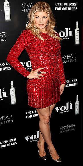 Fergie at Voli Vodka Party in Hollywood