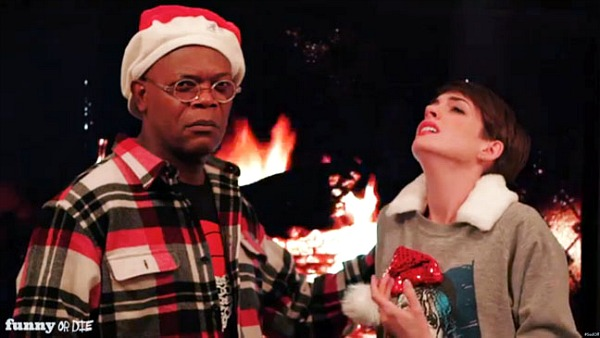 Funny or Die, Anne Hathaway &amp; Samuel L. Jackson Sad-Off