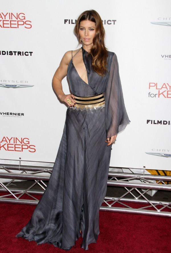 Jessica Biel at the Playing For Keeps Premiere
