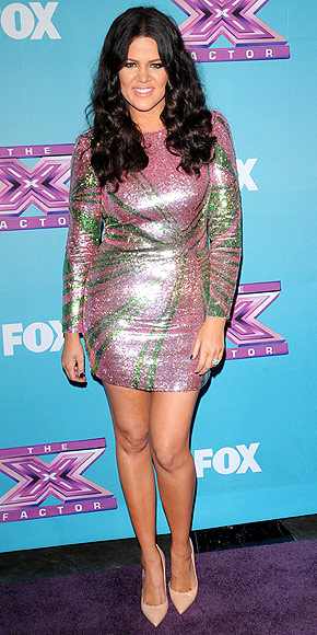 Khloe Kardashian at The X Factor Finale 2012