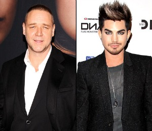 Adam Lambert and Russell Crowe on Les Miserables
