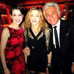 Anne Hathaway, Madonna and Giancarlo Giammetti