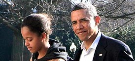 Barack Obama and daughter Malia