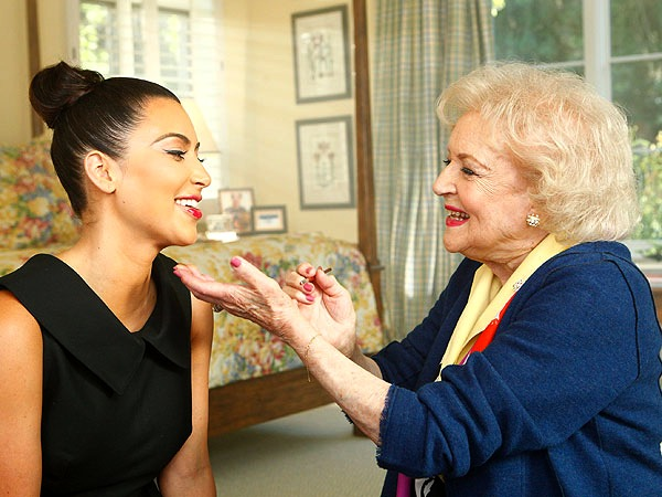 Betty White and Kim Kardashian