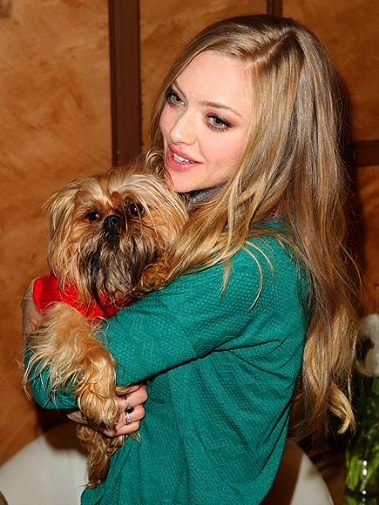 Amanda Seyfried makes a furry friend at Sundance 2013