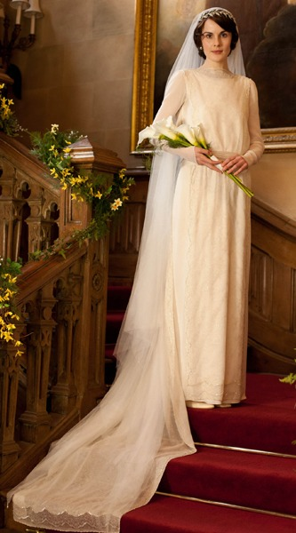 Mary Crawley's Wedding Gown
