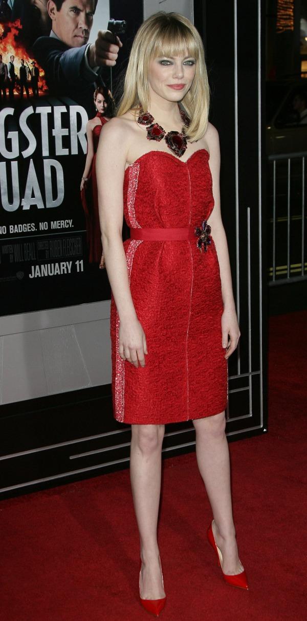 Emma Stone, Gangster Squad Premiere