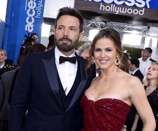 Ben Affleck and Jennifer Garner at the 2013 Golden Globes