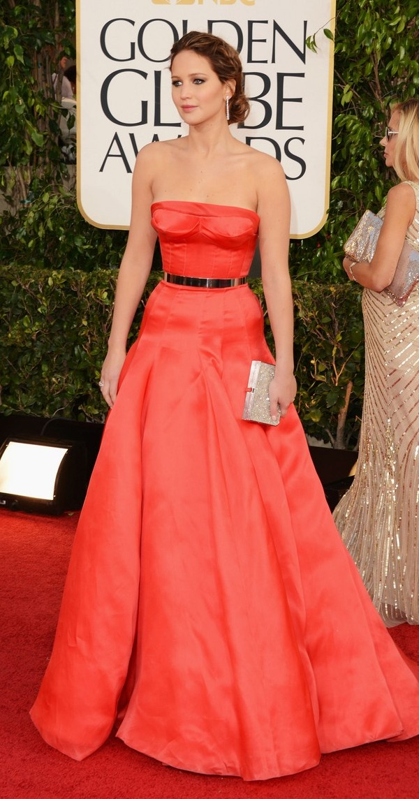 Jennifer Lawrence at the 2013 Golden Globes