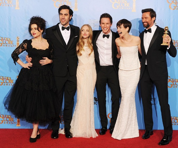 The cast of Les Miserables at the 2013 Golden Globes