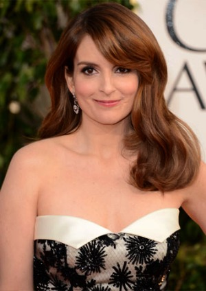 Tina Fey at the Golden Globes 2013