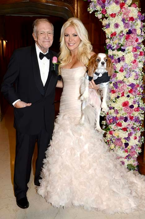 Hugh Hefner and Crystal Harris - See Her Pink Wedding Gown
