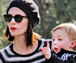 January Jones and Her Son Xander in Pasadena