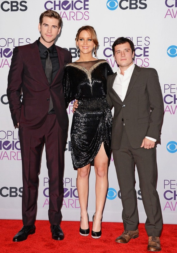 Liam Hemsworth, Jennifer Lawrence and Josh Hutcherson